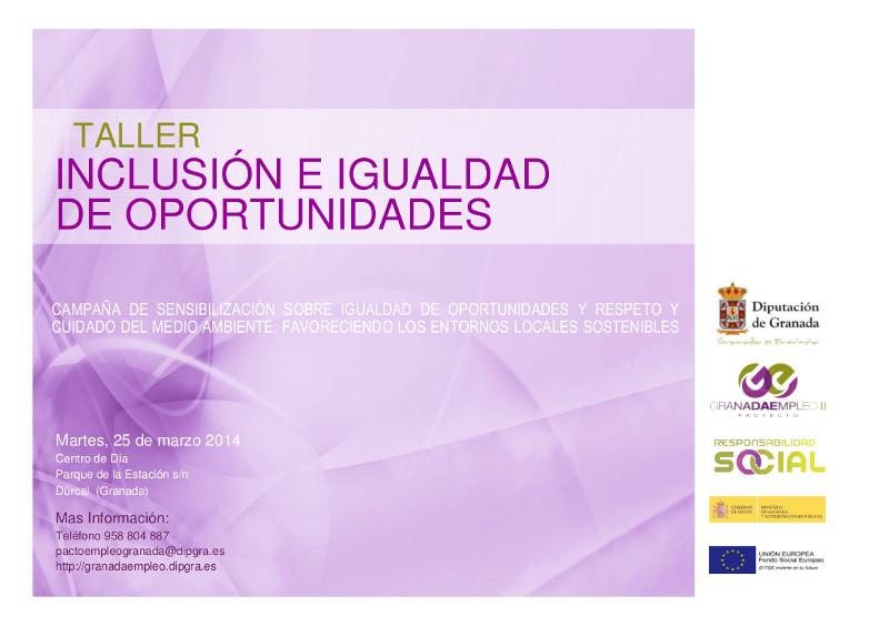 Taller: Inclusión e igualdad de oportunidades