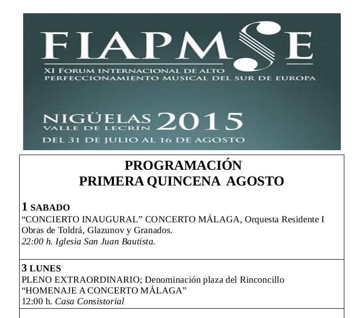 Programa con las últimas modificaciones del FIAPMSE