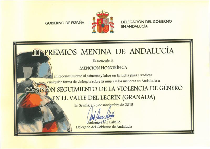 Premio al Centro de Información de la Mujer del Valle de Lecrín