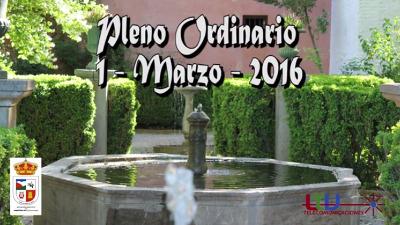 Pleno del Ayuntamiento de Nigüelas de 1 de Marzo de 2016