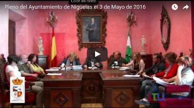 Vídeo del pleno del Ayuntamiento de Nigüelas realizado el día 3 de Mayo de 2016
