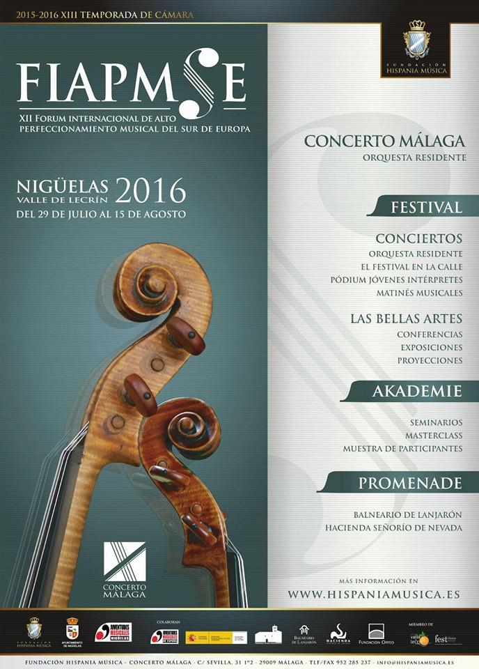 XII FIAMPSE 2016 – Forum Internacional de Alto Perfeccionamiento Musical del Sur de Europa