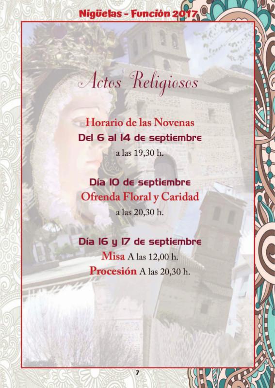 Programa Fiestas Nigüelas – Función 2017
