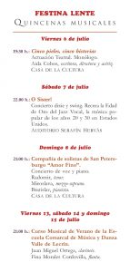 Próximas actividades en Nigüelas: Festina Lente – Quincenas Musicales