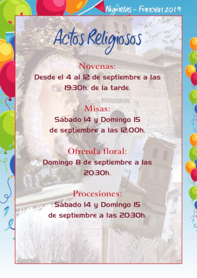 Programa Fiestas Nigüelas 2019 – Función 2019