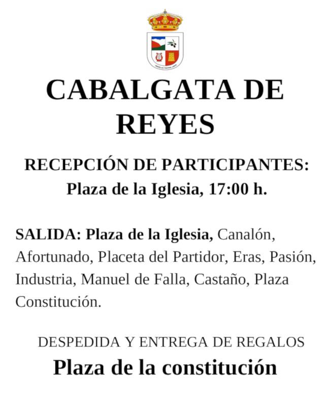Recorrido Cabalgata de Reyes Magos 2020