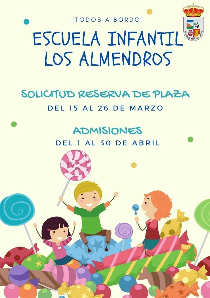 Lee más sobre el artículo Escuela Infantil Los Almendros – Escolarización 2021-2022