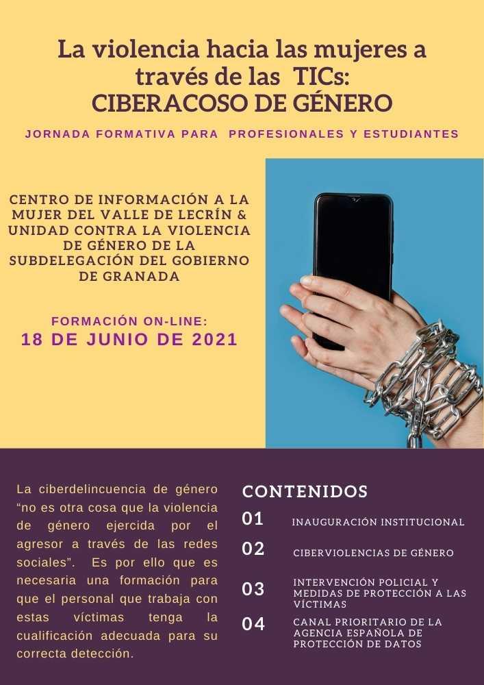 En este momento estás viendo Jornada Formativa – La violencia hacia las mujeres a través de las TICs: Cyberacoso de Género