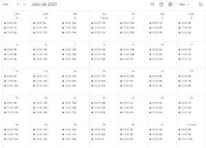 Calendario de riego – 2021 – Comunidad de Regantes