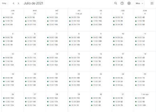 Lee más sobre el artículo Calendario de riego – 2021 – Comunidad de Regantes