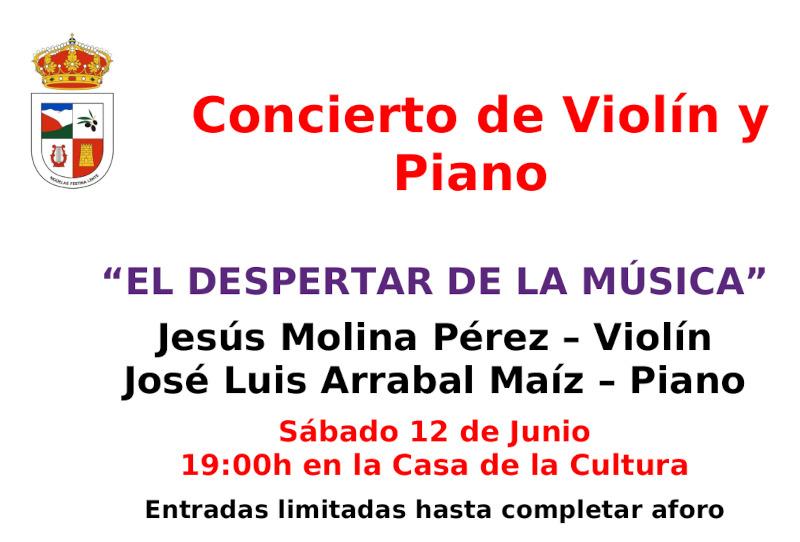 Lee más sobre el artículo Concierto piano y violín – 12 de Junio 2021